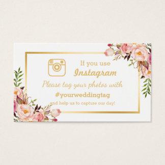 Cartão floral chique da inserção do casamento de