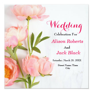Cartão floral cor-de-rosa da recepção
