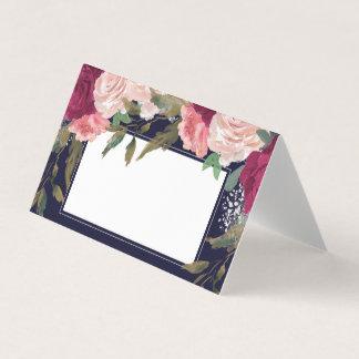 cartão floral cor-de-rosa do lugar do casamento do