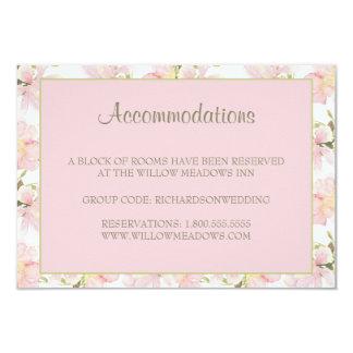 Cartão floral cor-de-rosa e verde de | da