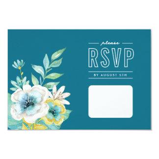 Cartão floral da aguarela RSVP
