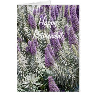 Cartão floral da aposentadoria
