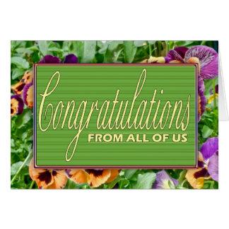 Cartão floral da aposentadoria dos parabéns de tud