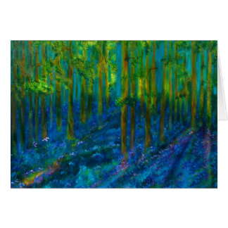 """Cartão floral da arte dos """"Bluebells"""""""