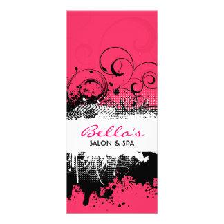 Cartão floral da cremalheira do Grunge Planfetos Informativos Coloridos