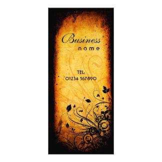 Cartão floral da cremalheira do Grunge Modelos De Panfletos Informativos