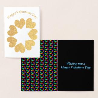 Cartão floral da folha dos corações do amor do