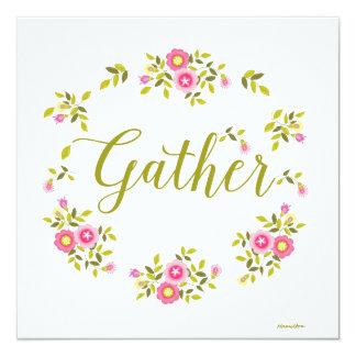 Cartão floral da grinalda com a palavra