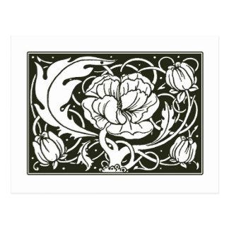 Cartão floral da ilustração de Nouveau da arte