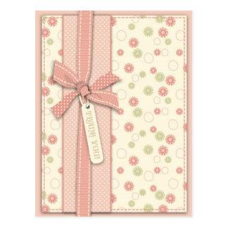 Cartão floral da menina bonito TY Cartão Postal