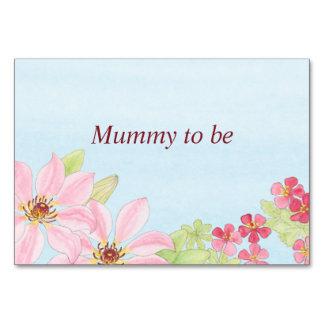 Cartão floral da mesa na aguarela