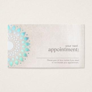 Cartão floral da nomeação de Lotus de turquesa
