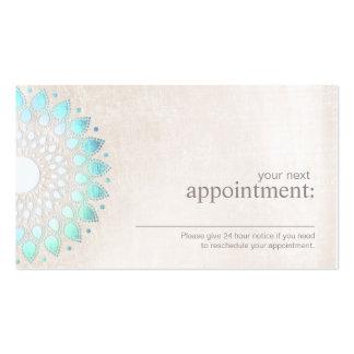 Cartão floral da nomeação de Lotus de turquesa Cartão De Visita