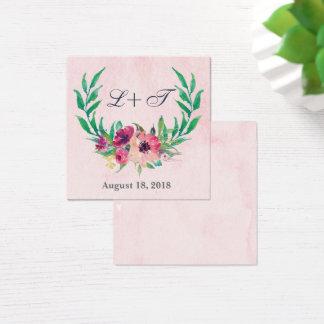 Cartão floral da placa conhecida do casamento da