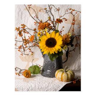 Cartão floral de 4663 outonos