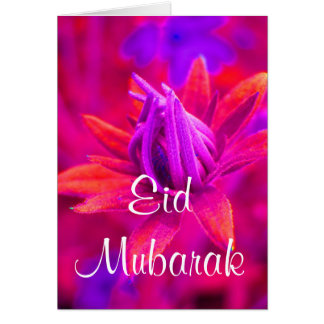 Cartão floral de Eid Mubarak