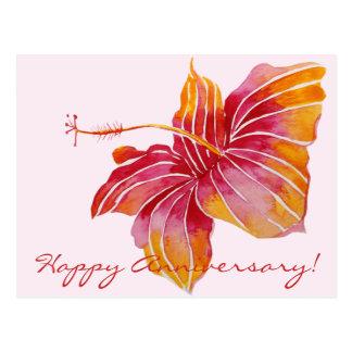 Cartão floral de Havaí do aniversário feliz