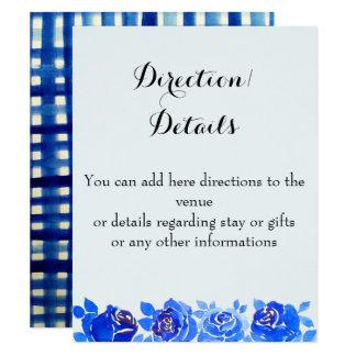 Cartão floral do convite dos detalhes do azul de