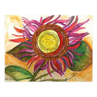 Cartão floral do desenho da aguarela e da tinta