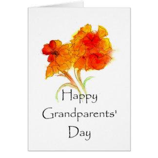 Cartão floral do dia das avós