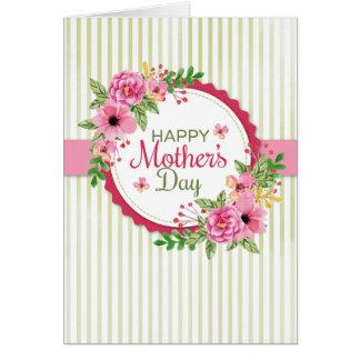 Cartão floral do dia das mães (foto opcional)
