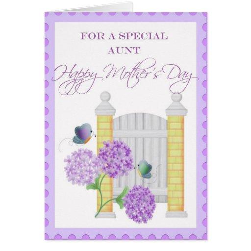 Cartão floral do dia das mães para a tia especial