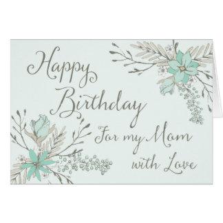 Cartão floral do feliz aniversario da mamã do