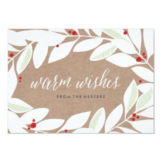 Cartão floral do feriado dos Sprigs da folha de Convite 12.7 X 17.78cm