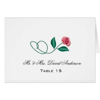 Cartão floral do lugar do casamento