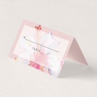 Cartão floral do lugar do casamento da aguarela
