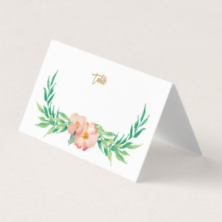 Cartão floral do lugar do casamento das hortaliças