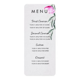 Cartão floral do menu da aguarela da magnólia
