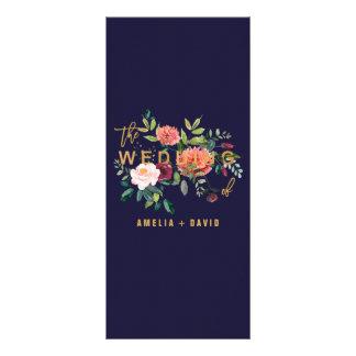 Cartão floral do menu do comensal do outono