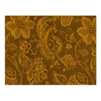 Cartão floral do ouro amarelo da mostarda do