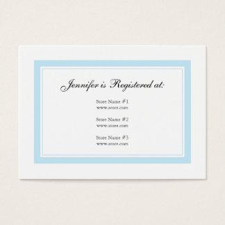 Cartão floral do registro do bebê - azul bebé