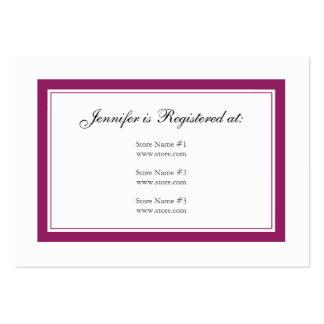 Cartão floral do registro do chá de panela - cartão de visita grande