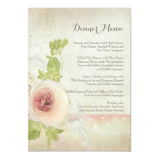 Cartão Floral elegante da flor da peônia do vintage do