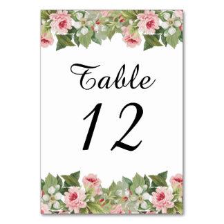 Cartão floral elegante da mesa do casamento do
