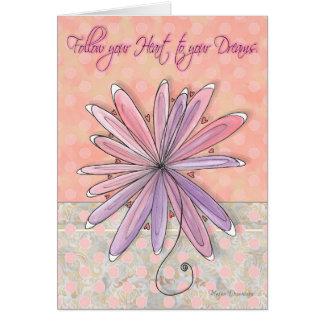 Cartão floral encorajador inspirado das bolinhas