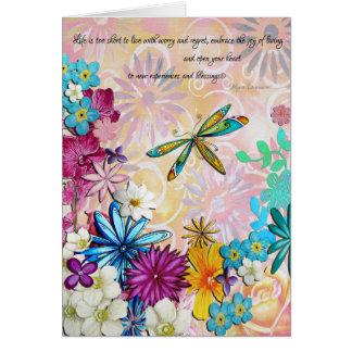 Cartão floral encorajador Uplifting inspirado