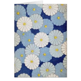 Cartão floral japonês