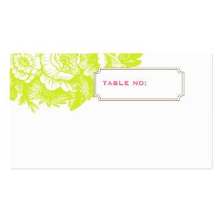 Cartão floral Luxe da escolta do casamento no Cartão De Visita