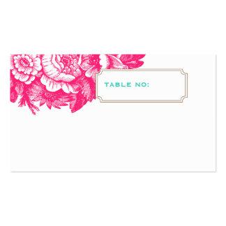 Cartão floral Luxe da escolta do casamento no rosa Cartão De Visita
