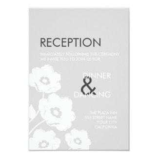 Cartão floral moderno da recepção convite 8.89 x 12.7cm