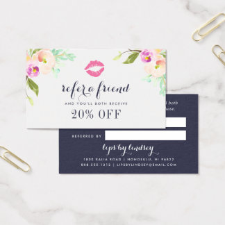 Cartão floral moderno da referência do negócio da