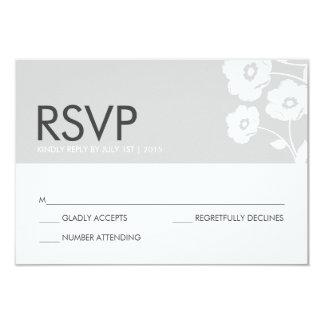 Cartão floral moderno de RSVP Convite 8.89 X 12.7cm