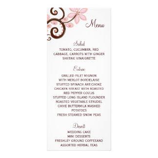 Cartão floral moderno do menu