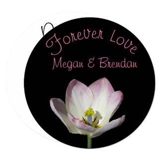 Cartão Floral no amor RSVP