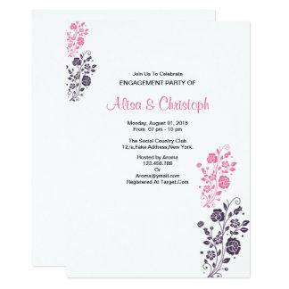 Cartão floral romântico do noivado