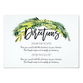 Cartão floral rústico do sentido do casamento de
